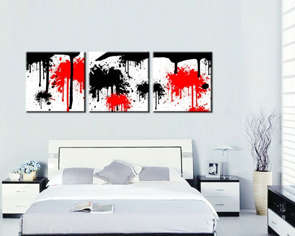 Comprar blanco rojo negro dibujo foto for Decoracion para pared negra