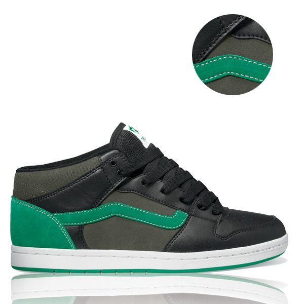 Vans Tony Trujillo TNT II Mid Cup Skate Shoe - Black/Bell Pepper   Mens Shoes   UK