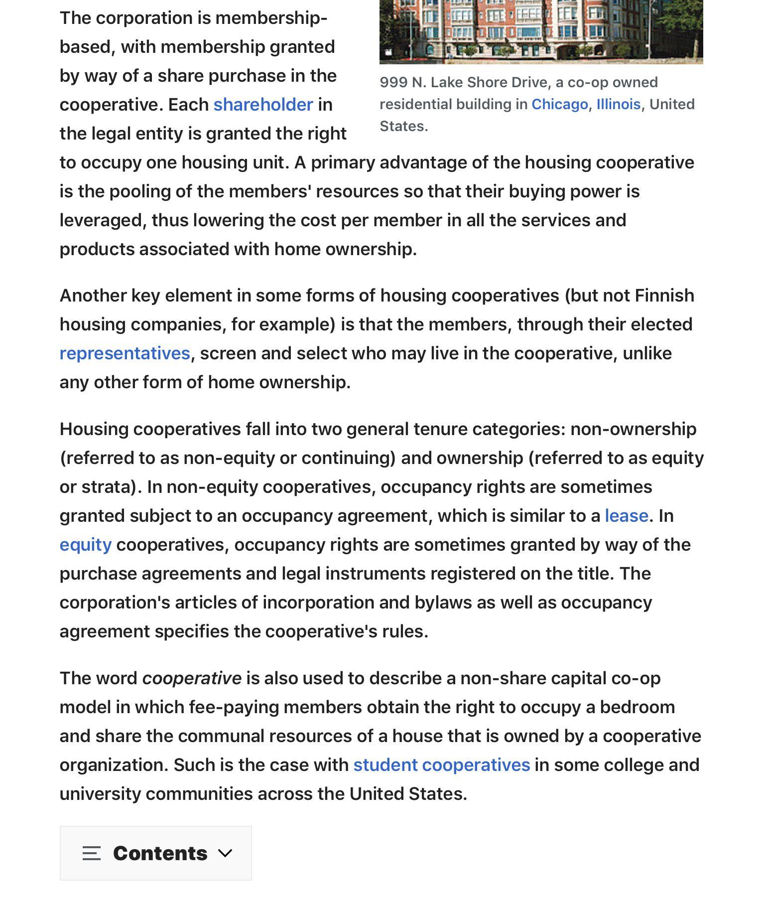 Https En M Wikipedia Org Wiki Housing Cooperative In 2020 Housing Cooperative Lake Shore Drive The Unit
