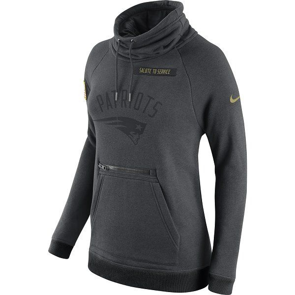 best website ae194 5927f Ladies Nike 2016 Salute To Service Hood-Charcoal | Patriots ...