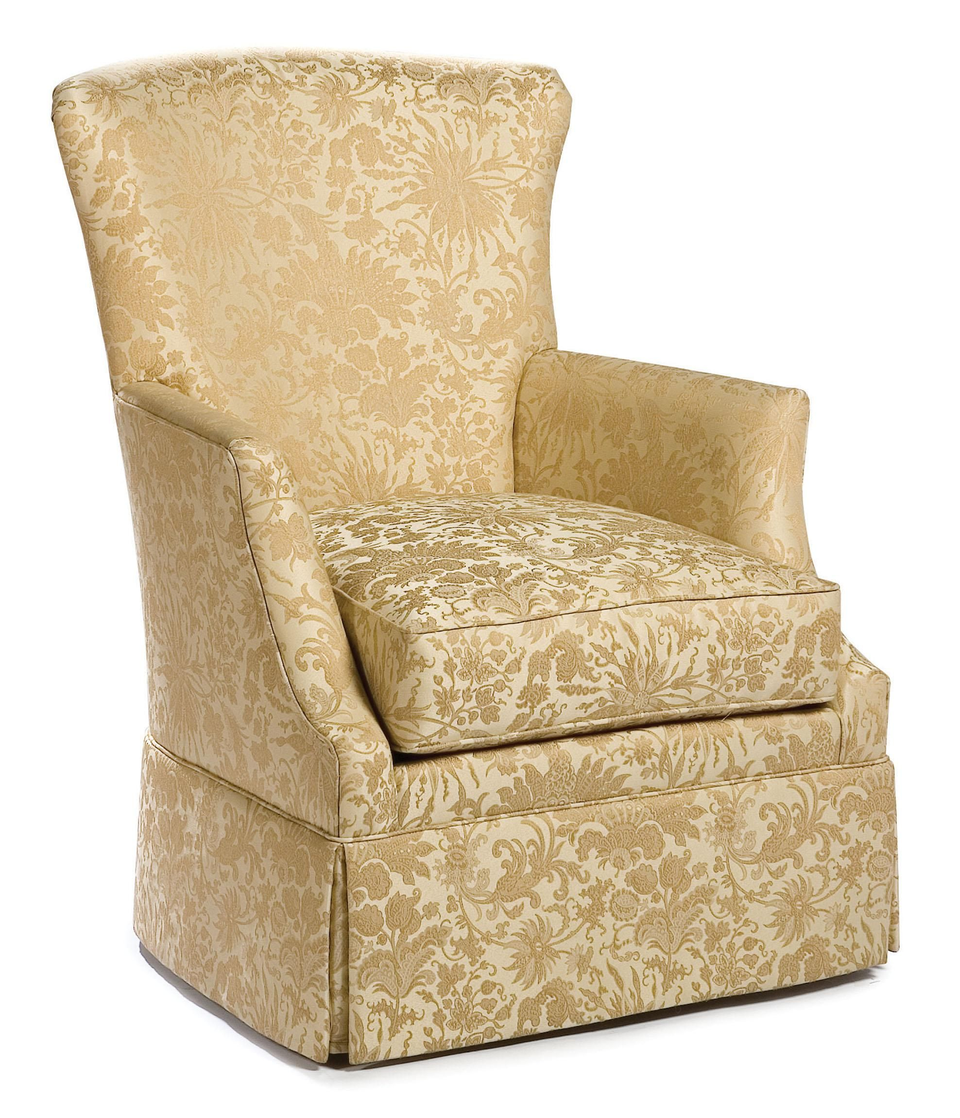 Swivel Accent Chairs Swivel Chair With Track Arms And Skirt By