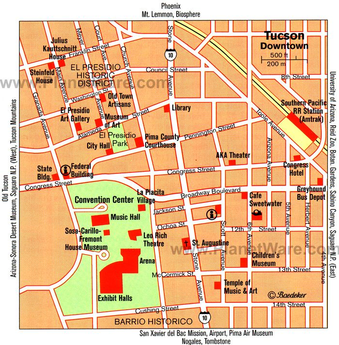 Tucson Map - Tourist Attractions | Arizona Dreaming ... on map of all counties in northern california, apache county arizona, downtown chandler arizona, map of city limits tucson az,