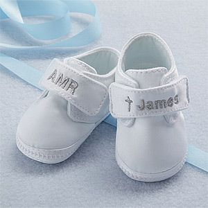Personalized Satin Christening Shoes