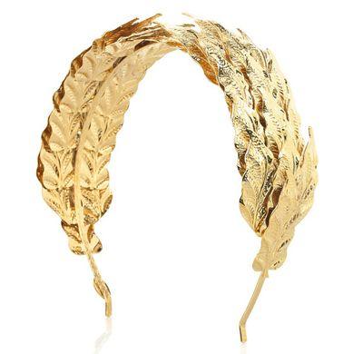 entrega gratis hacer un pedido recoger Gilded headband via #louismariette | Gold Wedding Details ...