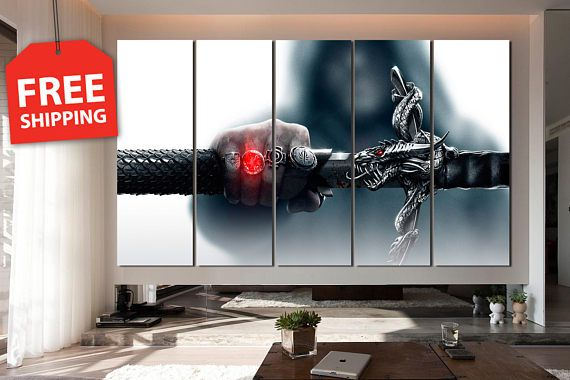 Canvas Painting Dragon Age Wall Art Decor For Home Poster Print Decoration Video