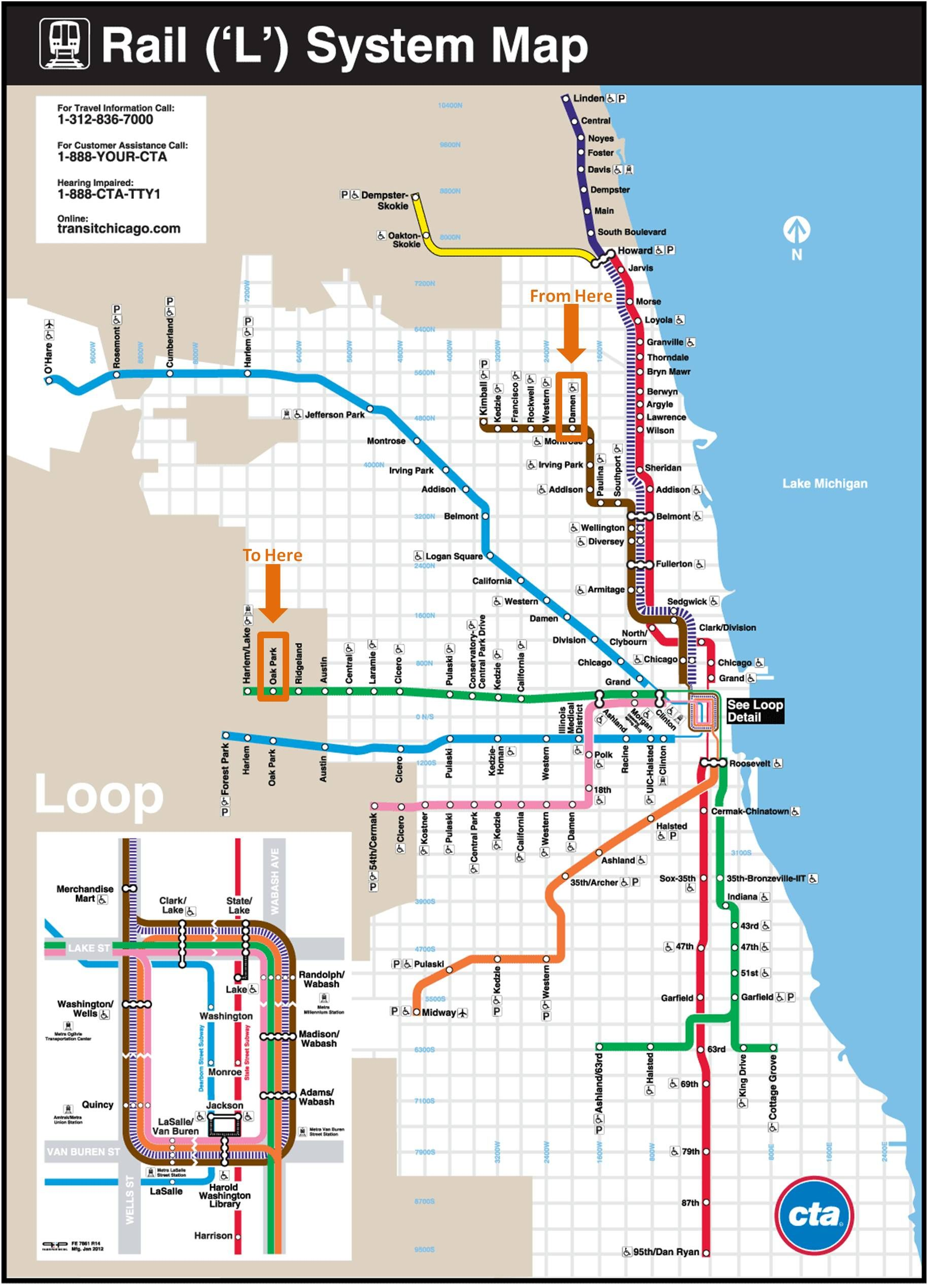 Chicago Subway Map Picture.Chicago Transit Map Might Come In Handy Good To Know In 2019