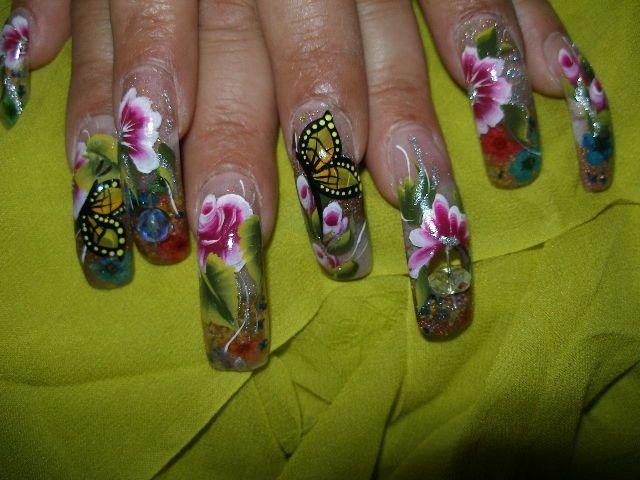Uñas pintadas con diseños de mariposas - Imagui | uñitas | Pinterest ...