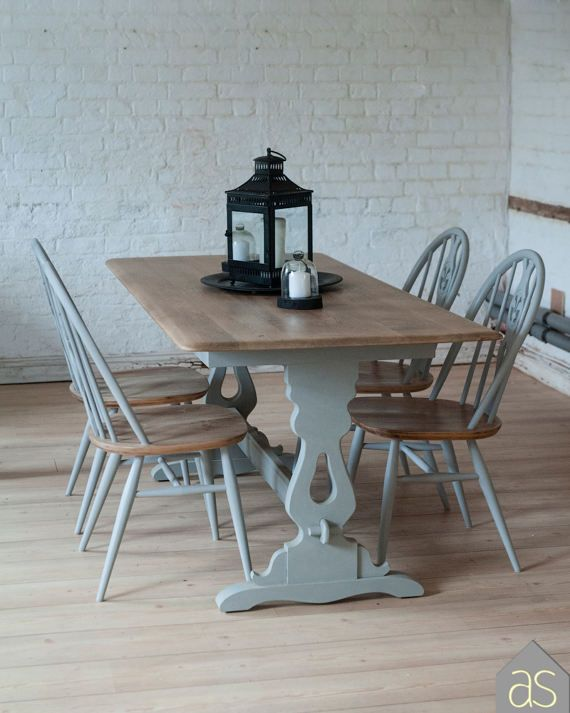 Sale Restored And Up Cycled Solid Oak Dining Table And Ercol