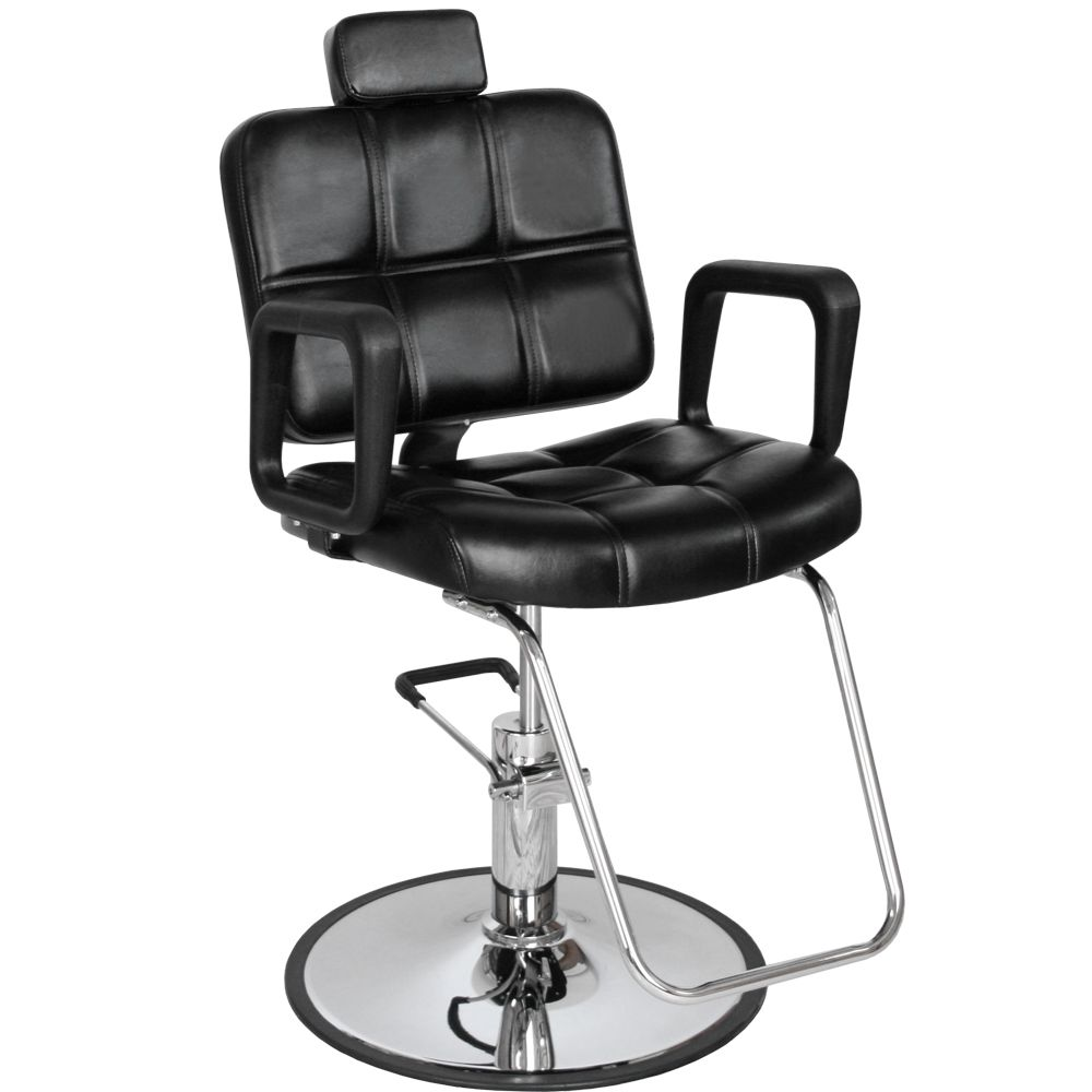 Black reclining multipurpose checker styling chair mp61r