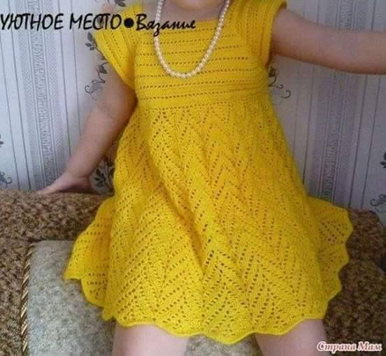 Patrón #754: Vestido de Niña a Crochet. | CTejidas [Crochet y Dos ...
