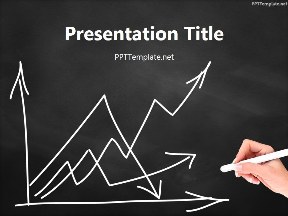 Free Empty Graph Chalk Hand Black Ppt Template Is A Statistics Theme