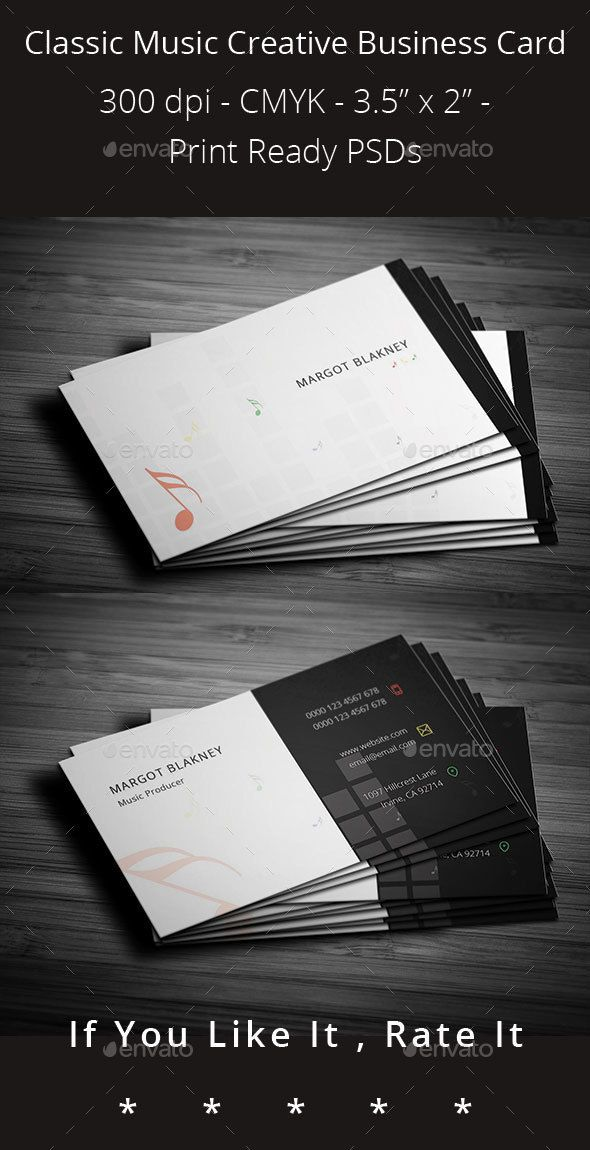 Classic music creative business card pinterest business cards classic music creative business card colourmoves