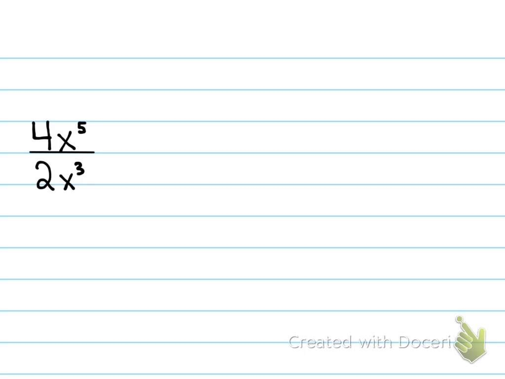 Multiplying And Dividing Exponents With Coefficients With