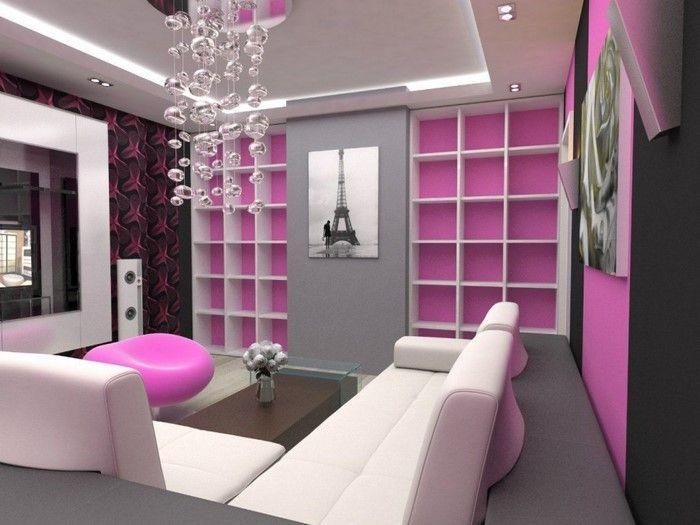 Wohnzimmer Ideen mit Rosa Eine verblüffende Deko | Pink ...