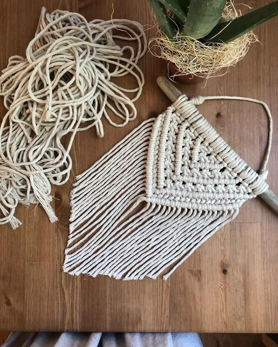 Photo of MADE to ORDER Simplicity Macrame Wall Hanging on Driftwood Branch Bohemian Wall Decor