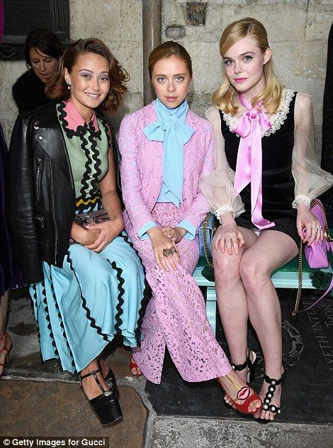 Elle Fanning looks regal as she attends Gucci catwalk show at Westminster Abbey | Daily Mail Online