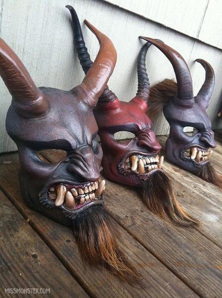 Krampus Masks Finished Cool Masks Krampus Mask Japanese Mask
