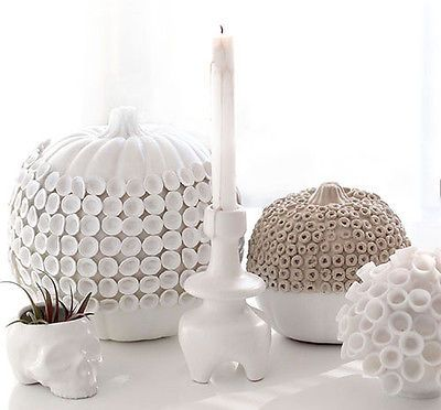 Every Halloween, I'm always looking for fun no-carve ideas for pumpkins, as well as solutions to allow them to stay up longer than just October. For this DIY, I was inspired by tonal textural pottery and...