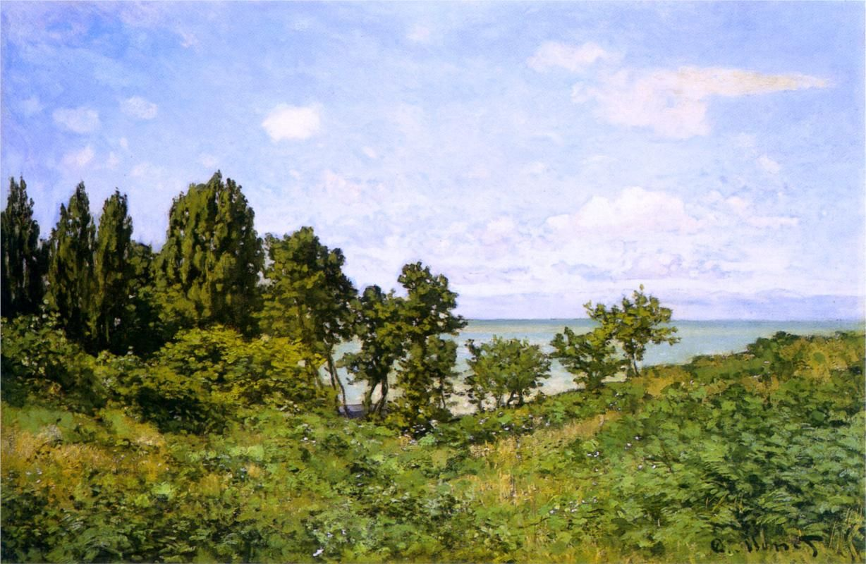 By the Sea, 1864 Monet