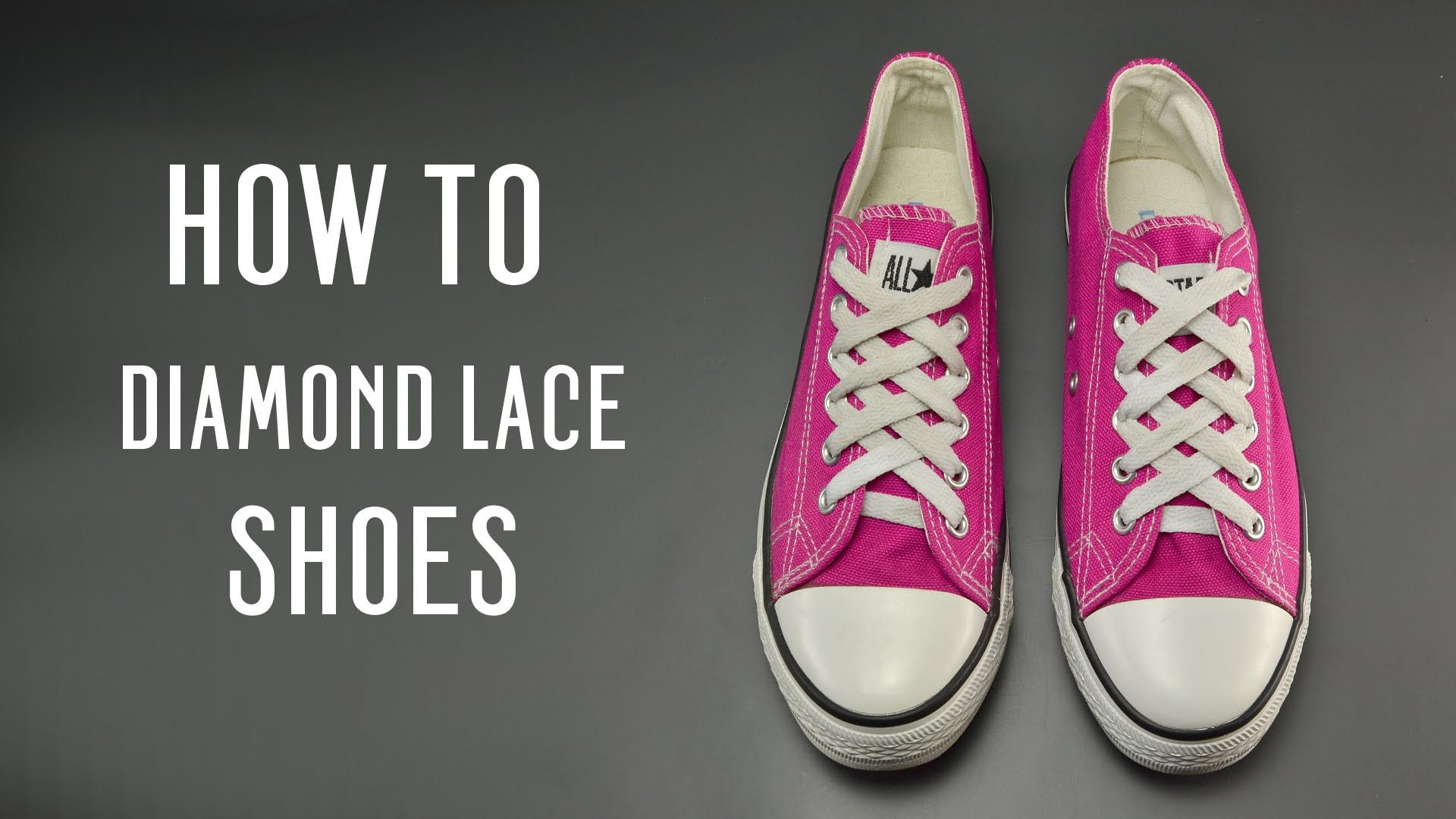 Learn How To Diamond Lace Your Shoes Very Simple Instruction For