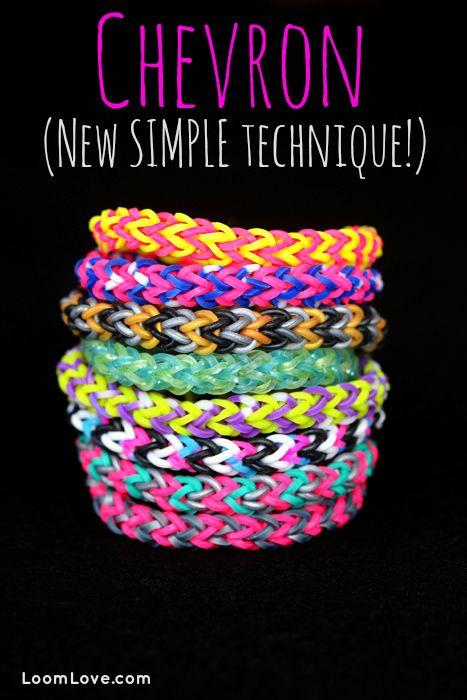 bracelet chevron facile rainbow loom et bracelets. Black Bedroom Furniture Sets. Home Design Ideas
