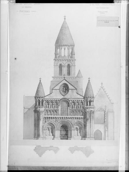 POITIERS - Eglise Notre-Dame-la-Grande - Plan.