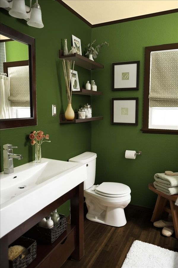 Green Bathroom With Modern And Cool Design Ideas Green Bathroom - Sage bath rug for bathroom decorating ideas
