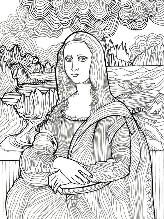 Pin de Barbara en coloring art en 2018 | Pinterest | Colorear, Mona ...