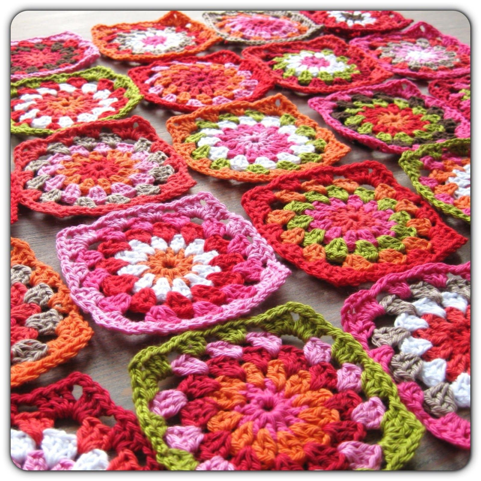 Colorful Crochet Granny Squares Tejidos Pinterest Square