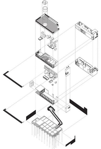 Res 4 Exploded Axon Kit Of Parts Drawing Drawings