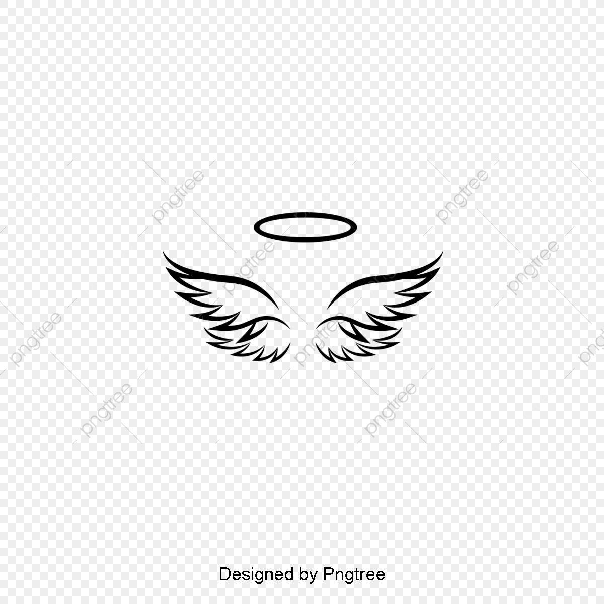 Silhouette Design Of Simple Angel Wings Angel Wings Tattoo Wings Tattoo Small Angel Wing Tattoo