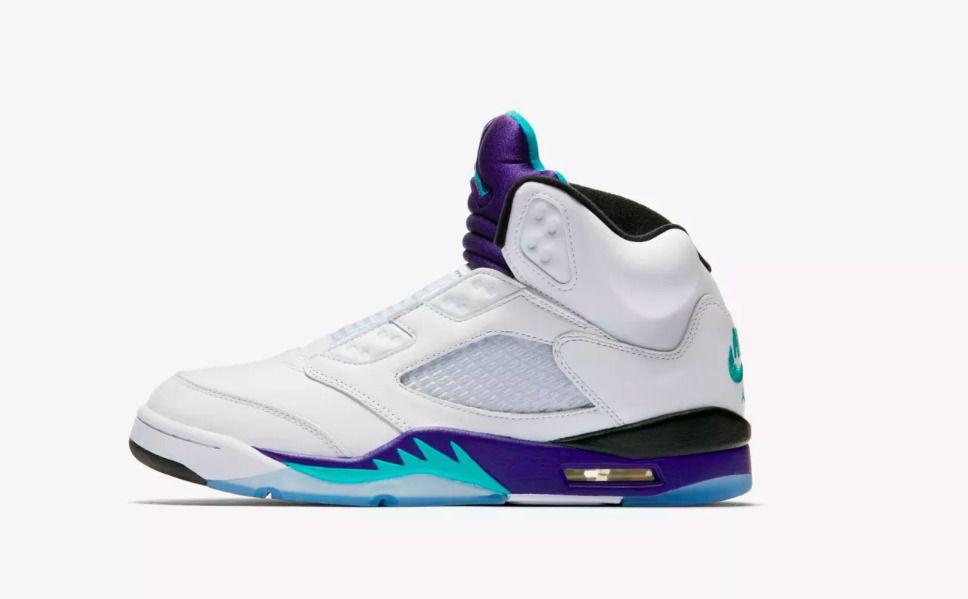 e03491317a16c1 Air Jordan Retro 5 NRG Fresh Prince Laceless Grape 13 AV3919-135 100%  Authentic  fashion  clothing  shoes  accessories  mensshoes  athleticshoes   ad (ebay ...