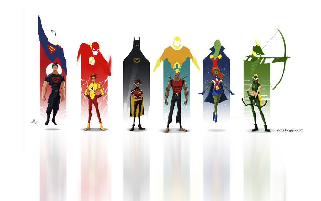 """Young Justice"" - battle artist round 10 by ~shoze on deviantART"