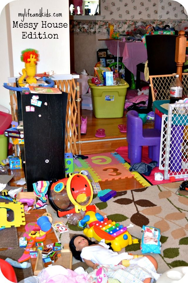 Picture of a messy house