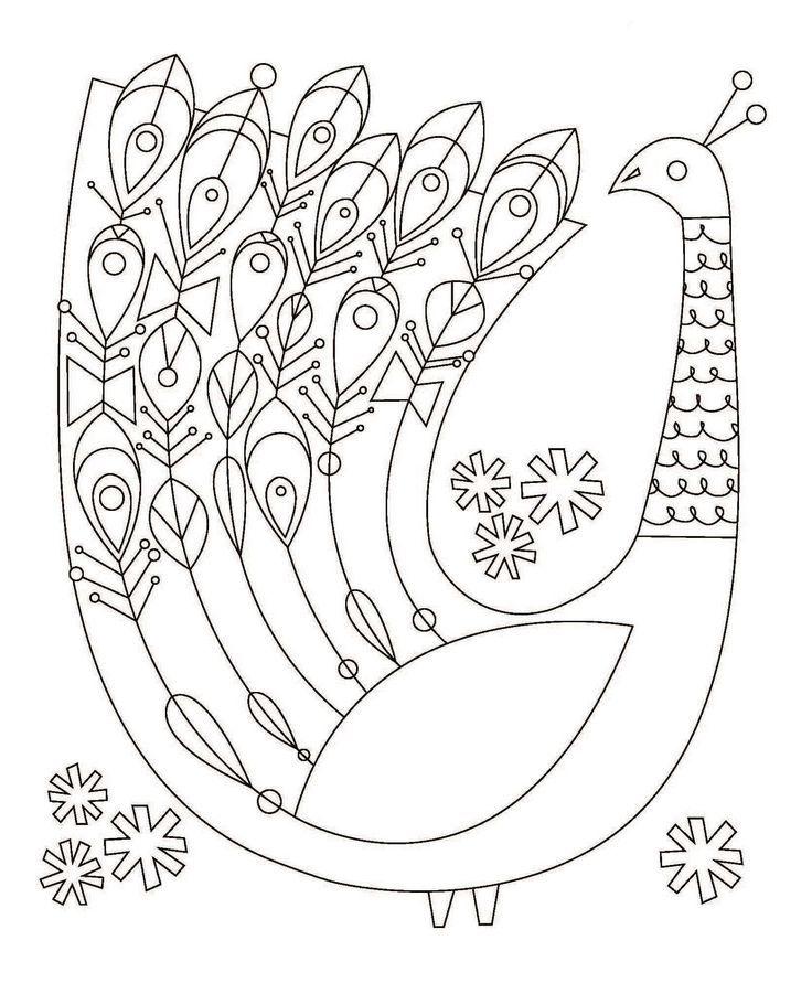 herrliche 20  folk art floral embroidery printables art
