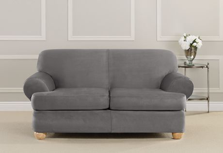 Simple Stretch Subway One Piece Recliner Slipcover Loveseat