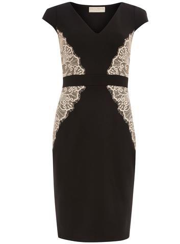 287a753ea0b8d Black and Blush Lace Overlay Dress | DIY refashioning my wardrobe ...
