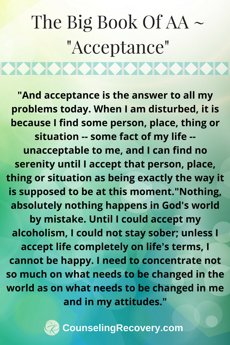 Workbooks codependents anonymous workbook : Learning Acceptance | Acceptance prayer, Codependency recovery and ...