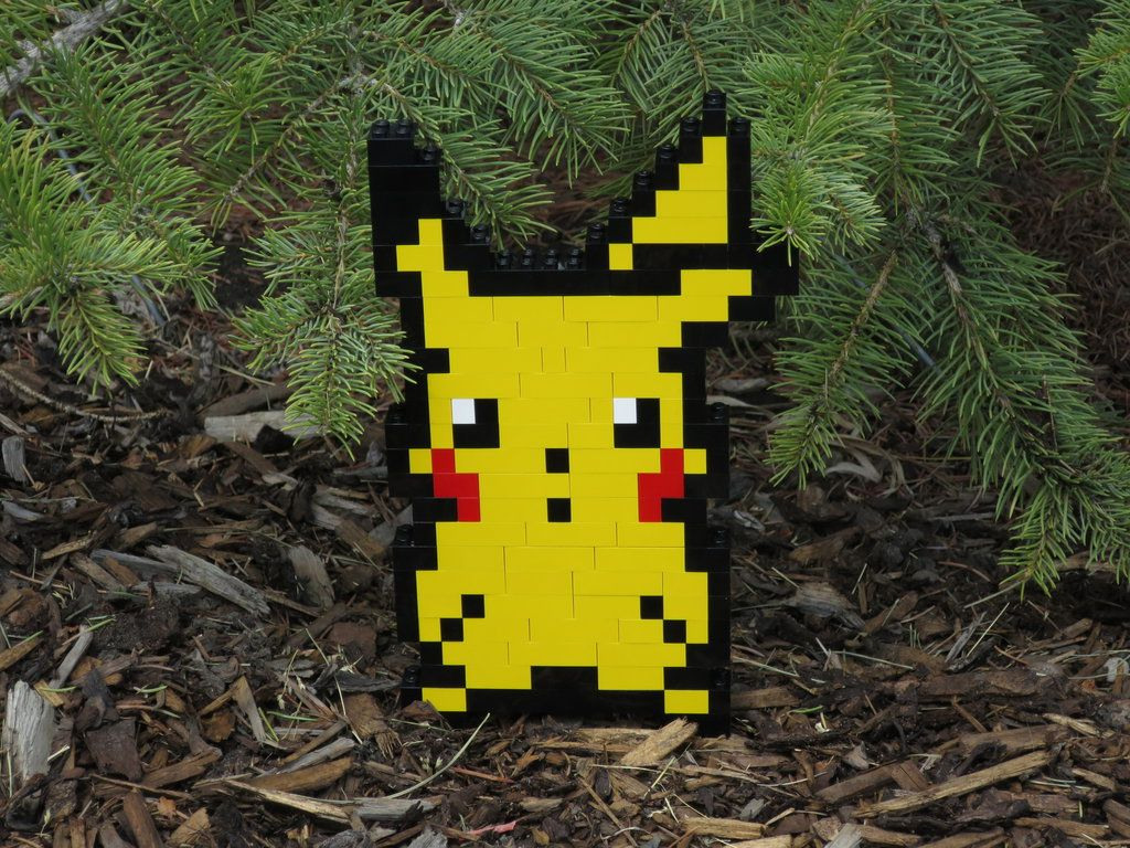 Lego pikachu by plasticpixel lego sculptures bead