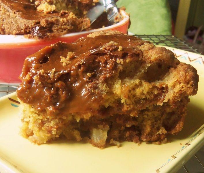 Dulce de Leche Caramel Apple Cake