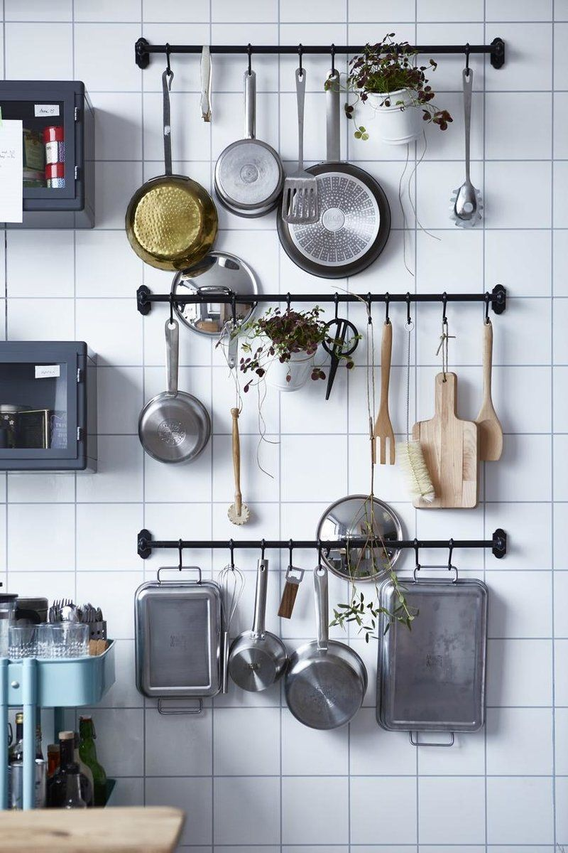 10 Smart Ways to Store Your Kitchen Tools | Kitchen wall ...