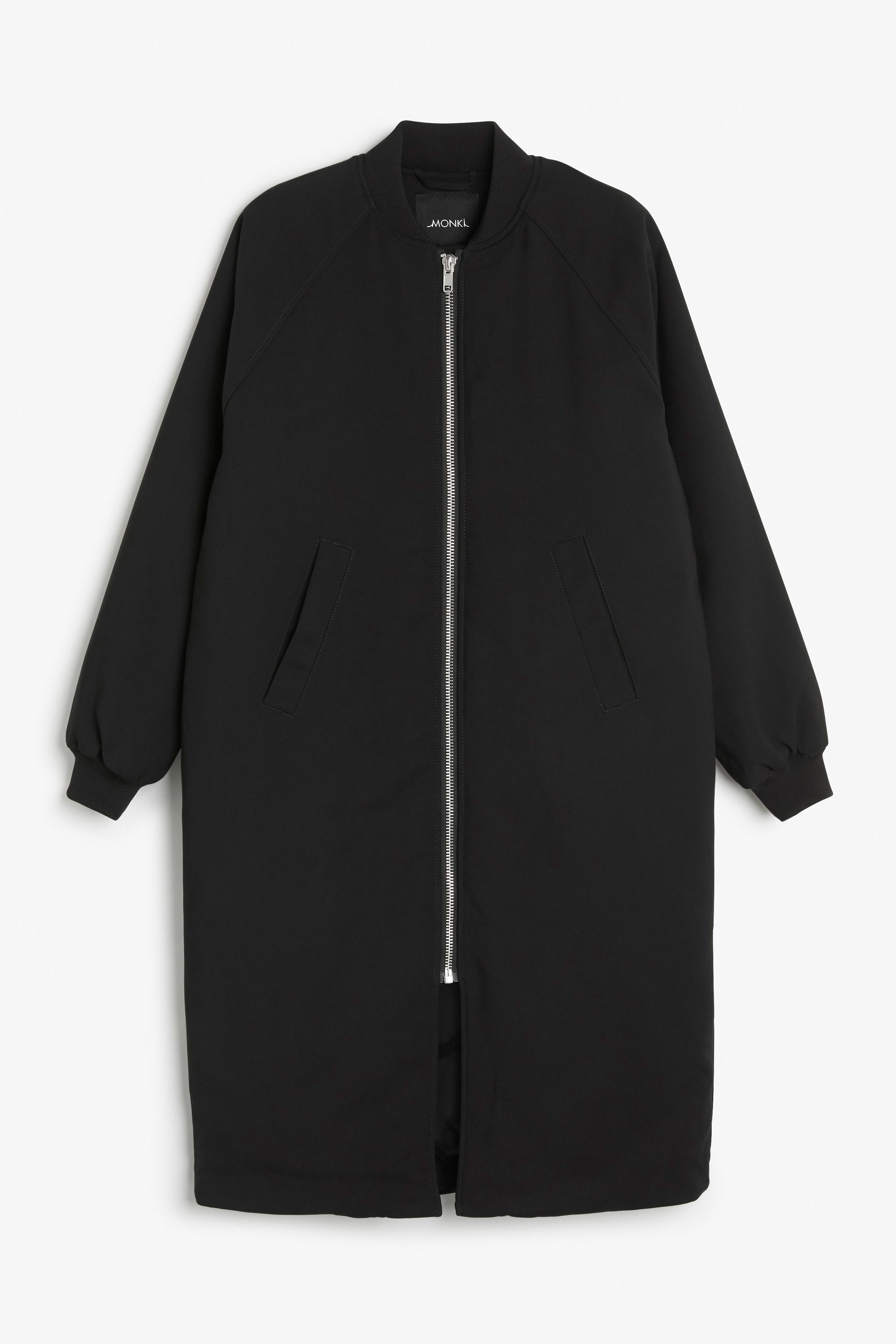Monki Image 1 Of Long Bomber Jacket In Black Long Bomber Jacket Clothes Blouse Outfit Work [ 3000 x 2000 Pixel ]