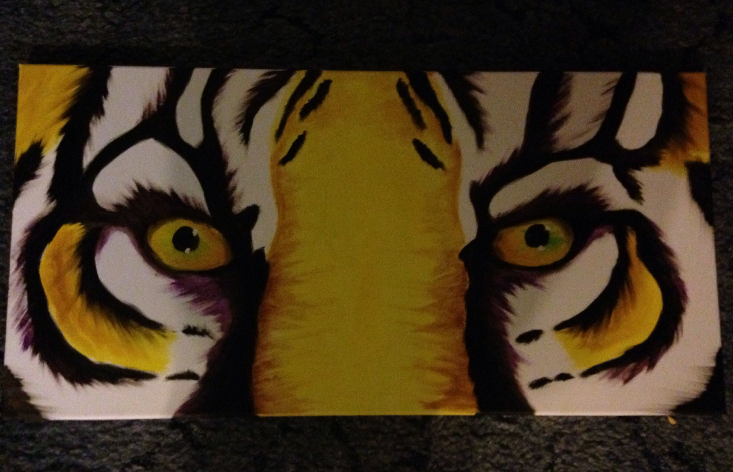 Tiger eyes #oilpaints size 12x24