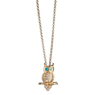 The Perched Owl Necklace