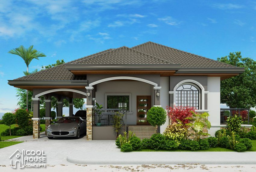 One Storey Home Plan Perspective View Bungalow Style House Plans Single Storey House Plans House Plans