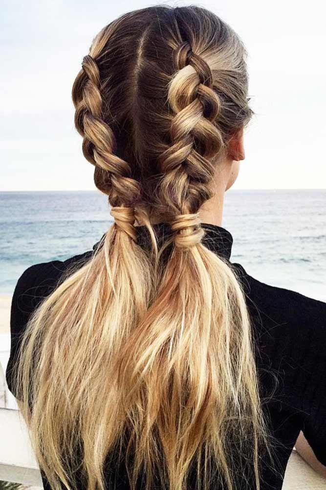 Our Ideas Of Summer Hairstyles Will Save You From Hot Weather Humidity And Frizz We Have Styling Options For Long Hair Styles Pigtail Hairstyles Hair Styles