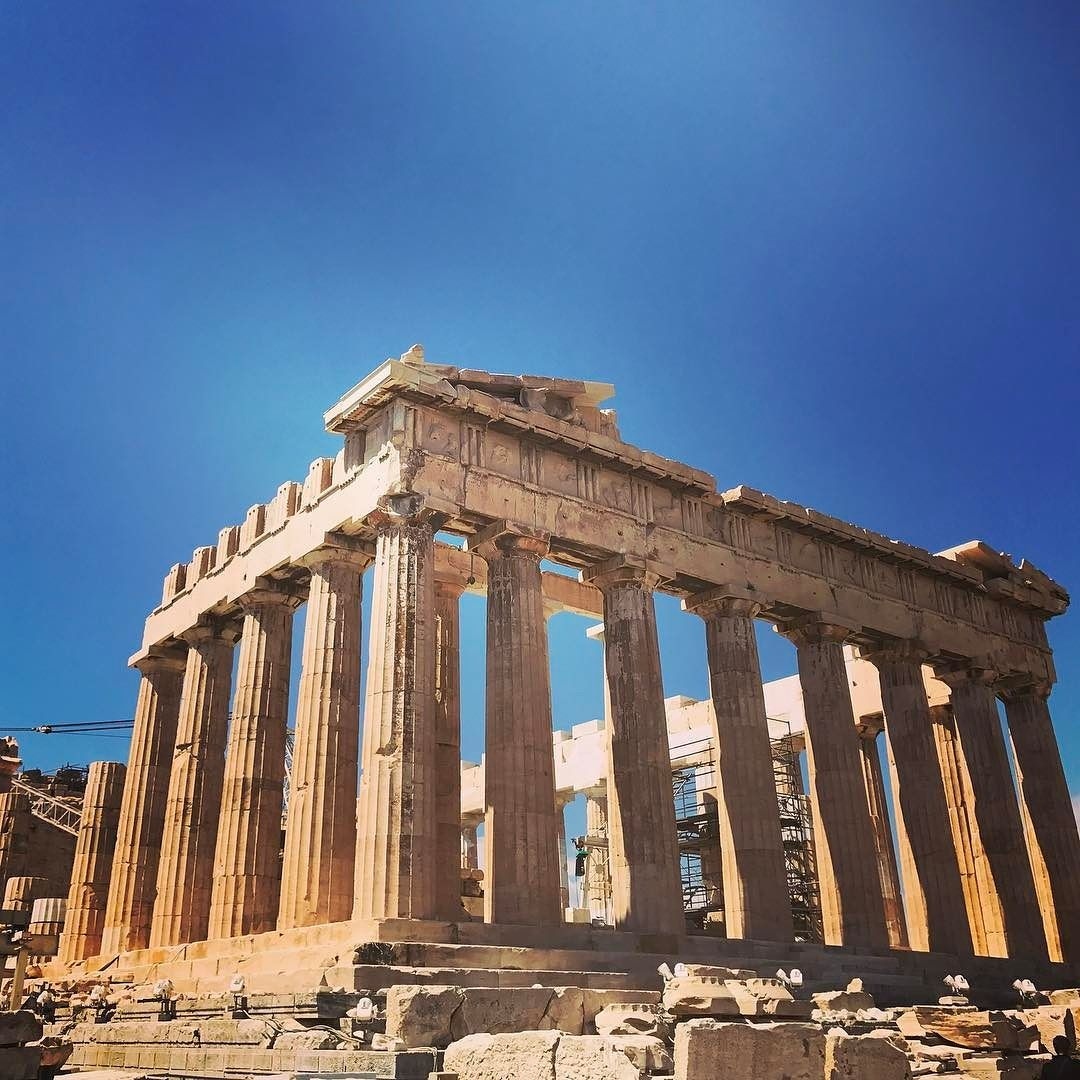 The Ancient And Historical Ruins Of Athenas Temple In Athens