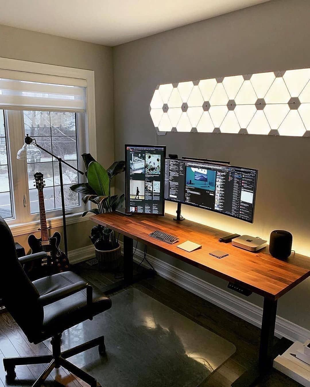 Setup Mac Mini Two Monitors One Pixel Unlimited Home Office Setup Room Setup Bedroom Setup