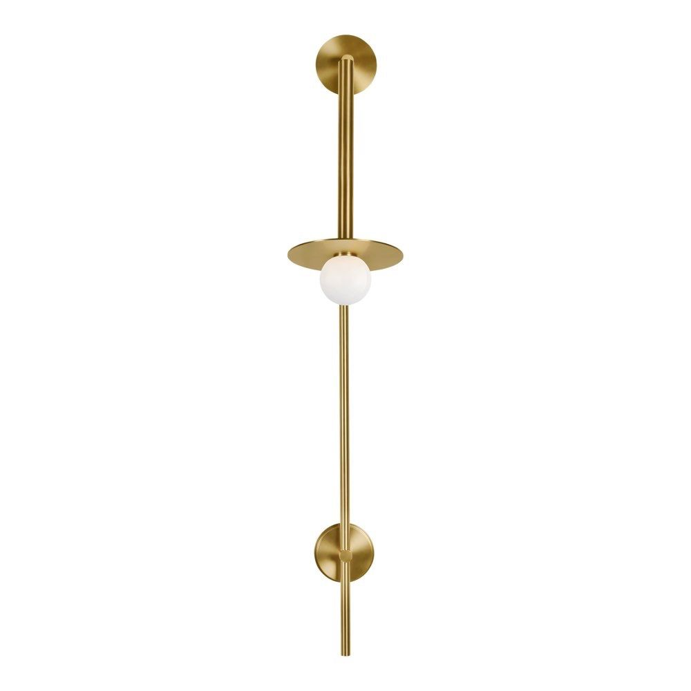 Feiss Lighting Nodes 1 Light Large Pivot Wall Sconce In Burnished Brass Fs Kw1031bbs Wall Sconces Sconces Feiss Lighting