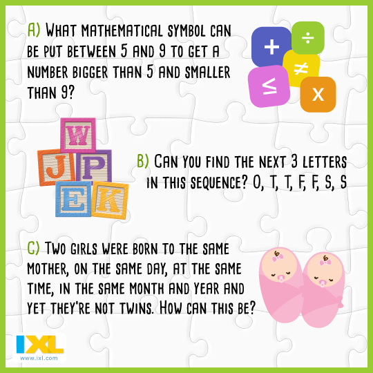 Can you solve these math and logic brain teasers? (Answer